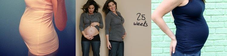Фото живота мамы на 25 неделе беременности