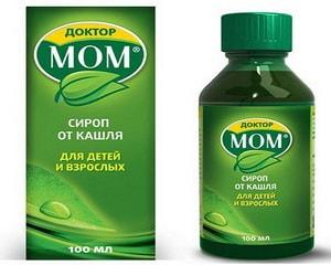 Инструкция по применению растительного сиропа от кашля Доктор Мом для детей