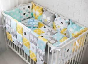-4 Как сшить бортики в кроватку для новорожденных своими руками