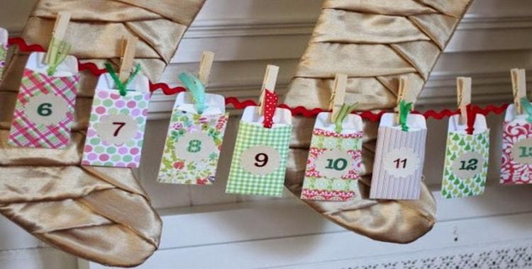 Как создать новогодний адвент календарь для детей